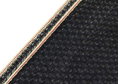 China Red Sticker Herringbone Denim Fabric By The Yard Crocodile Old Shuttle Looms supplier