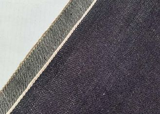 China 32 Inches Cotton Black Denim Fabric , Lady Dresses Colored Denim Fabric supplier