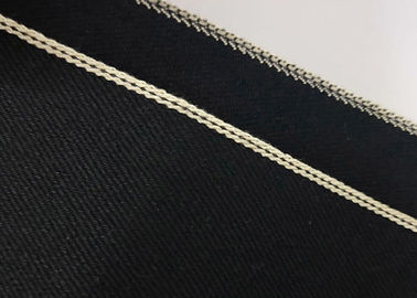 China Black Stretch Denim Fabric By The Yard 12.5 Ounce Washable Customized Design supplier