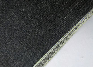 China Deep Indigo Washed Selvedge Denim Fabric , Slub 18.5oz Colored Stretch Denim Fabric supplier