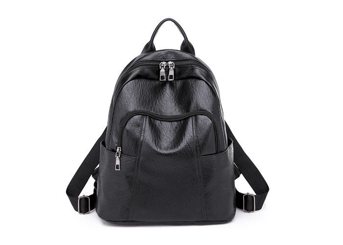 9d1034b42c9b Custom PU Leather Backpack Bags Brown   Black Color For Ladies Bulks 896W  Model