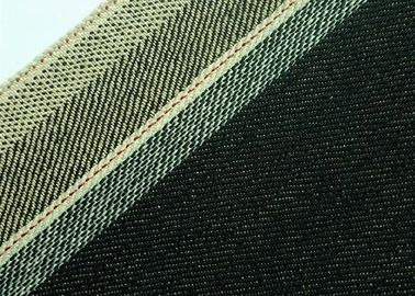 White Selvedge Brushed Denim Upholstery Fabric , 33mm Denim Fabric By The Metre W09224V