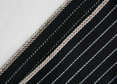 11.7oz 100% Cotton Stretchable Jeans Material , Yarn Dyed Striped Twill Fabric