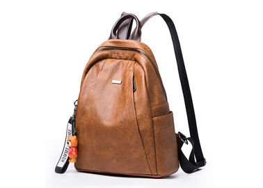 Travel Cute Leather Backpack Bags For Women Waterproof W30 Cm SGS Approved