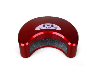 12W Red Interaction UV LED Nail Lamp , Moon Shape Handheld LED Nail Curing Lamp