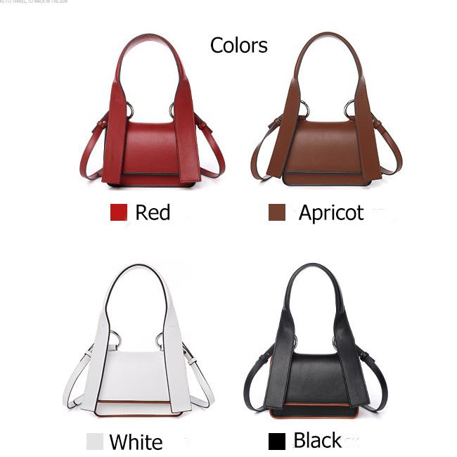 Multi Color Over The Shoulder Bags , 2 Layers Cellphone Soft Leather Handbags